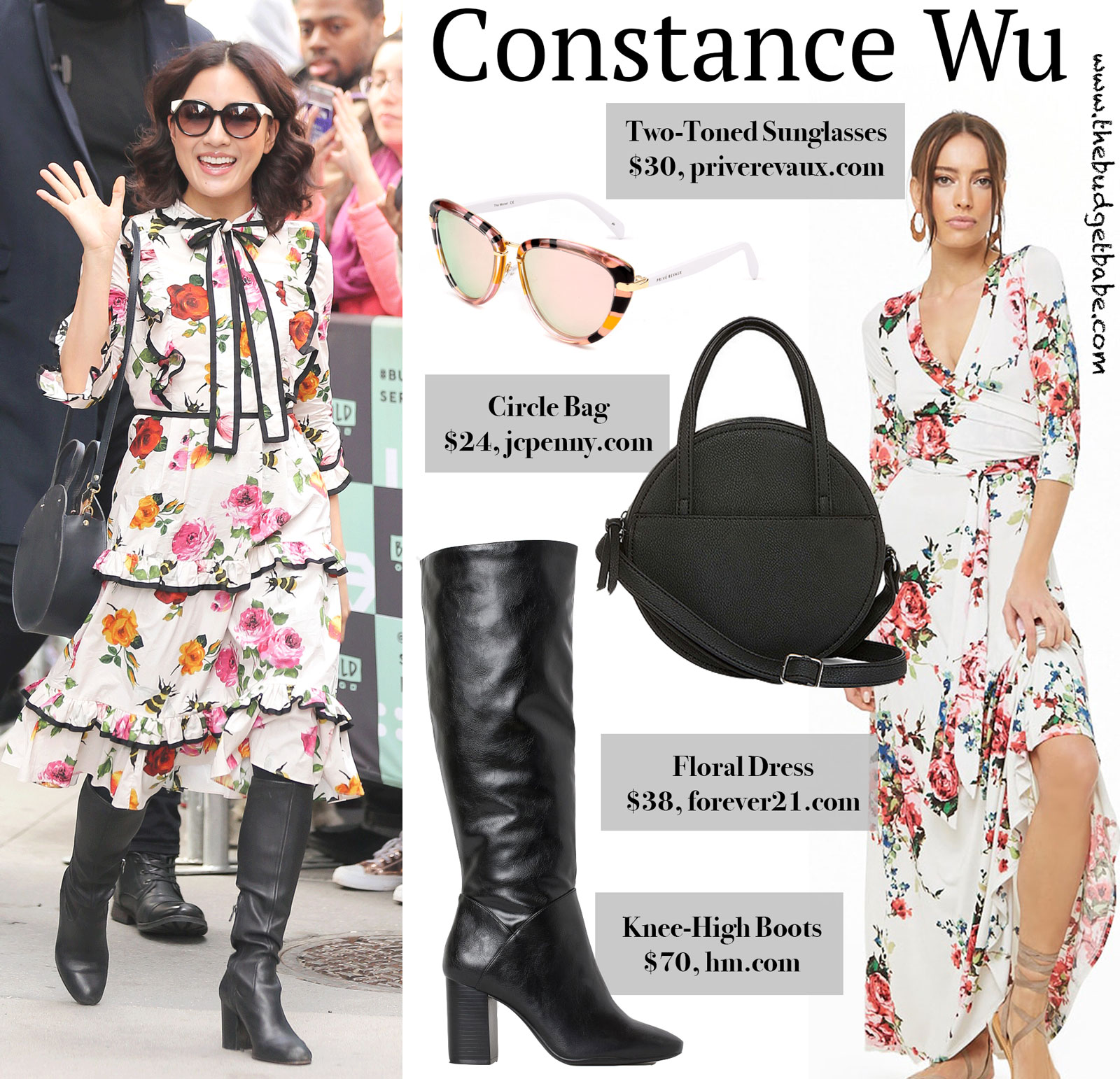Constance Wu Floral Gucci Dress Look for Less