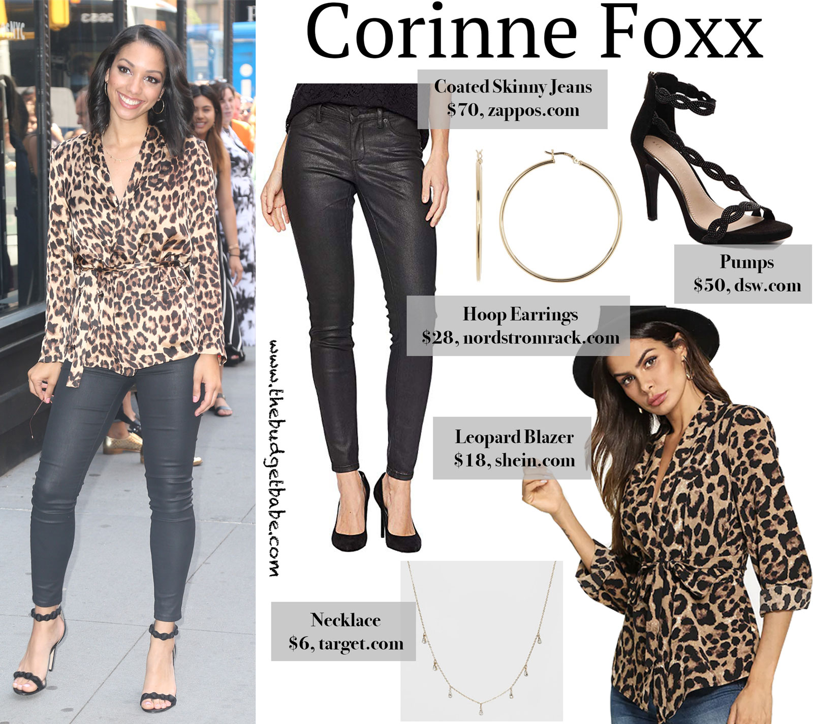 Corinne Foxx Leopard Shirt Look for Less