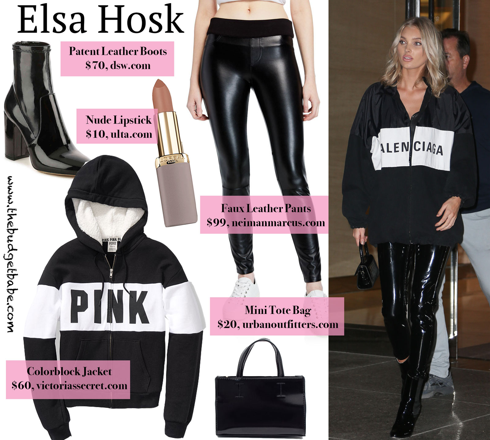 Elsa Hosk Balenciaga Jacket Look for Less