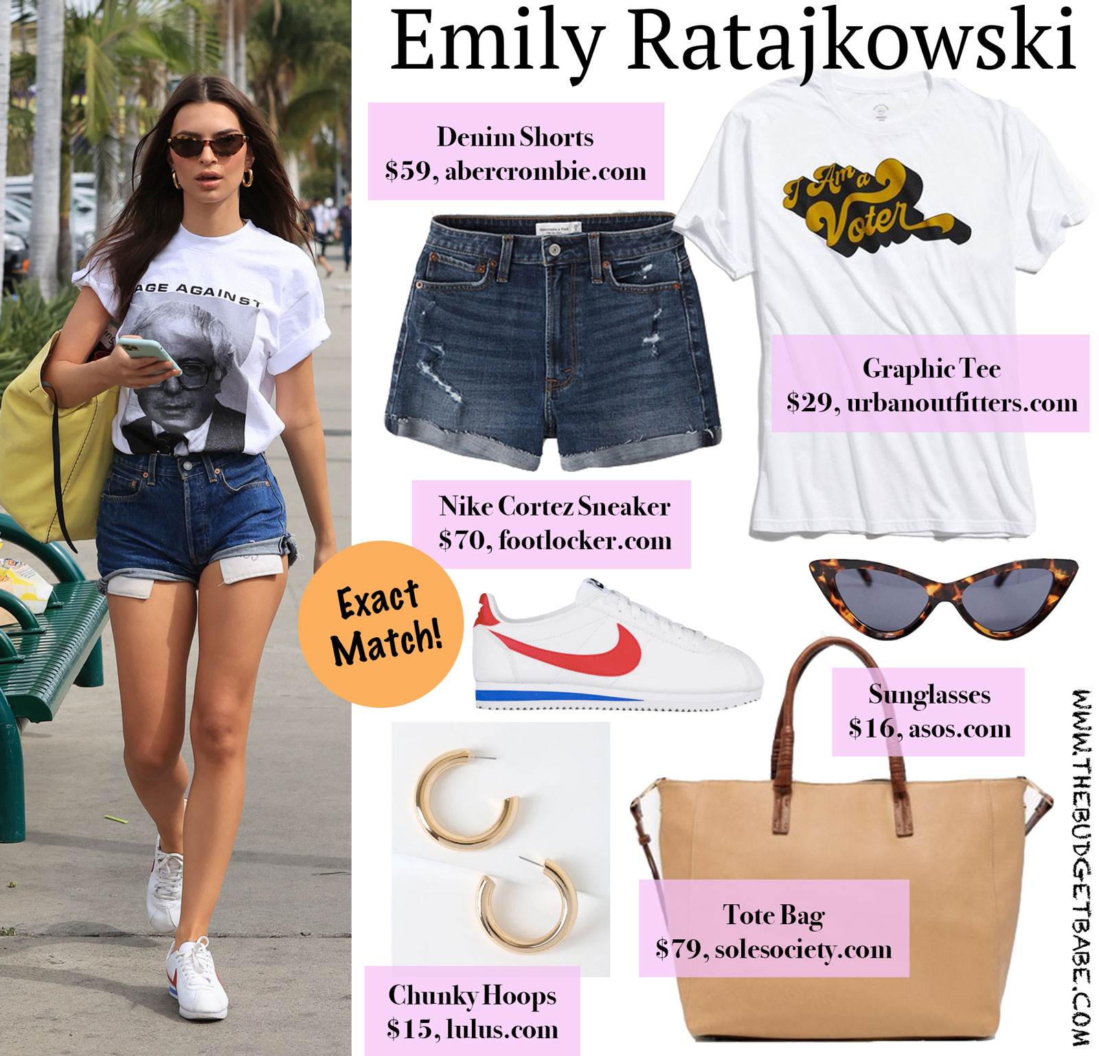 Emily Ratajkowski Graphic Tee and Nikes Look for Less