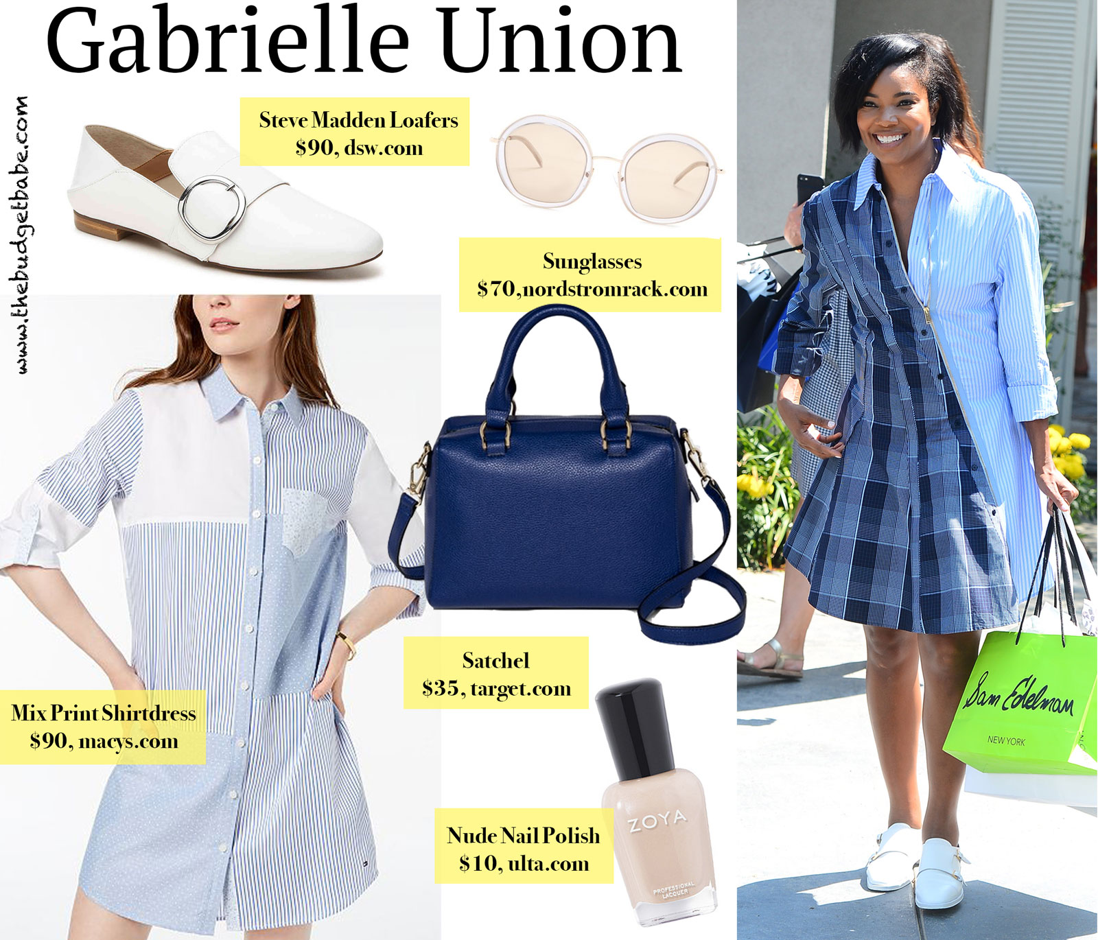 Gabrielle Union Stella McCartney Mix Media Dress Look for Less