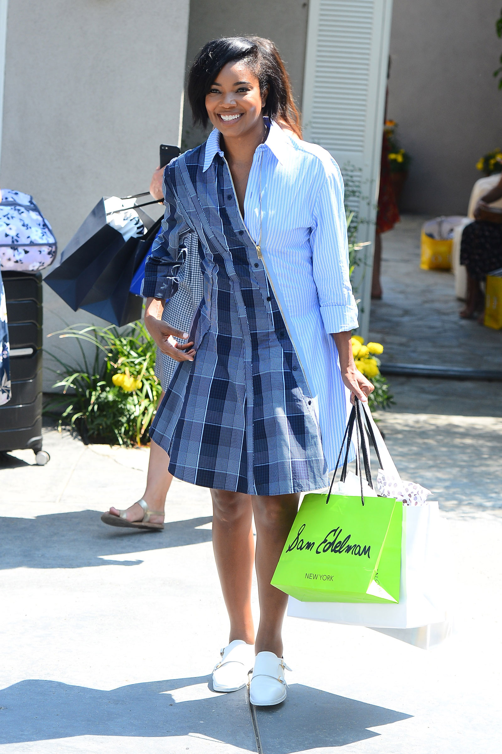 Gabrielle Union Stella McCartney Mix Media Dress