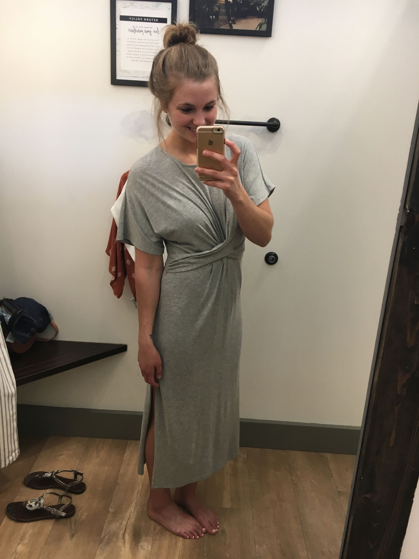 Hope Ave. Lazy Day Grey Dress
