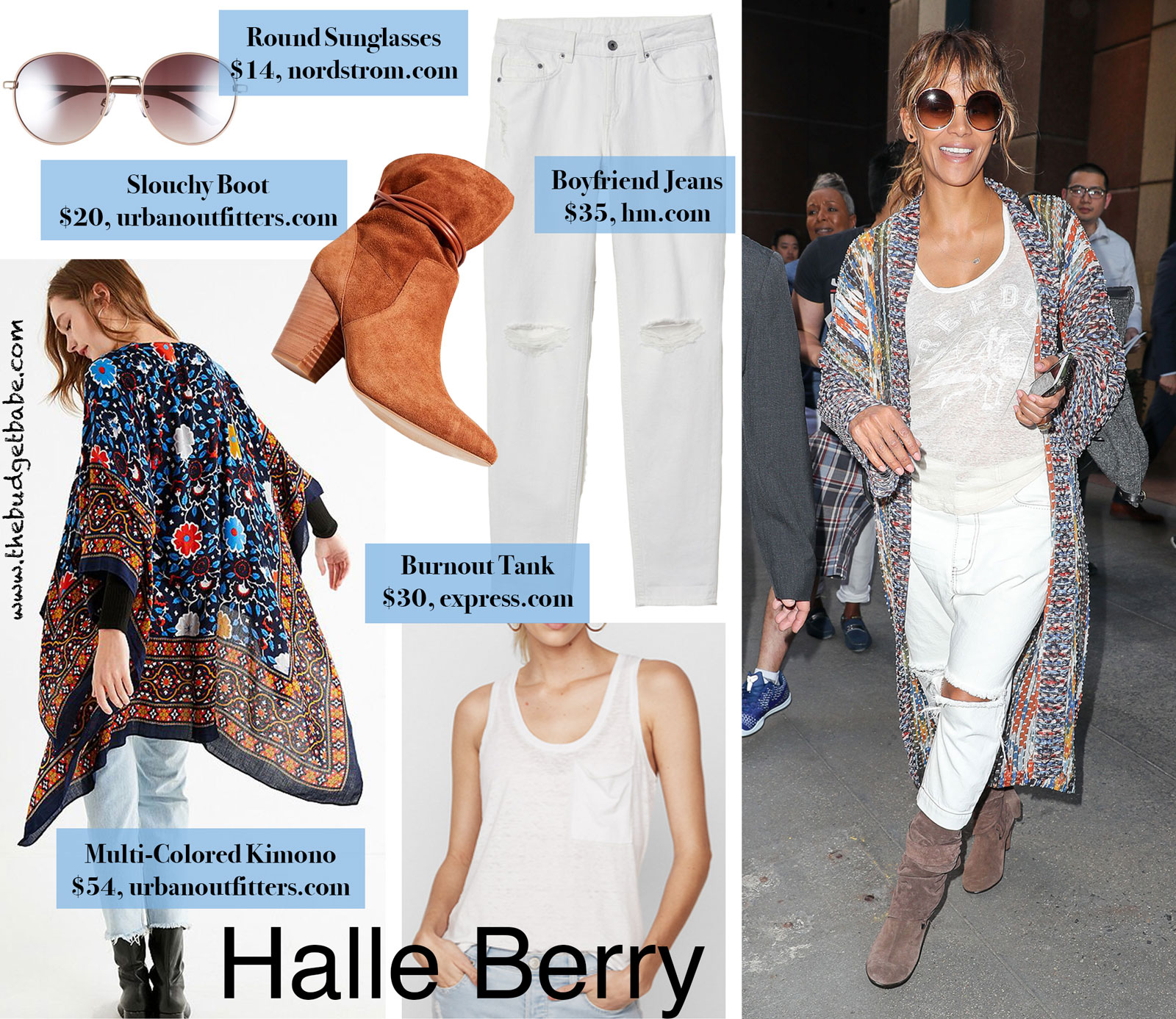 Halle Berry's ONETEASPOON Boyfriend Jeans Look for Less