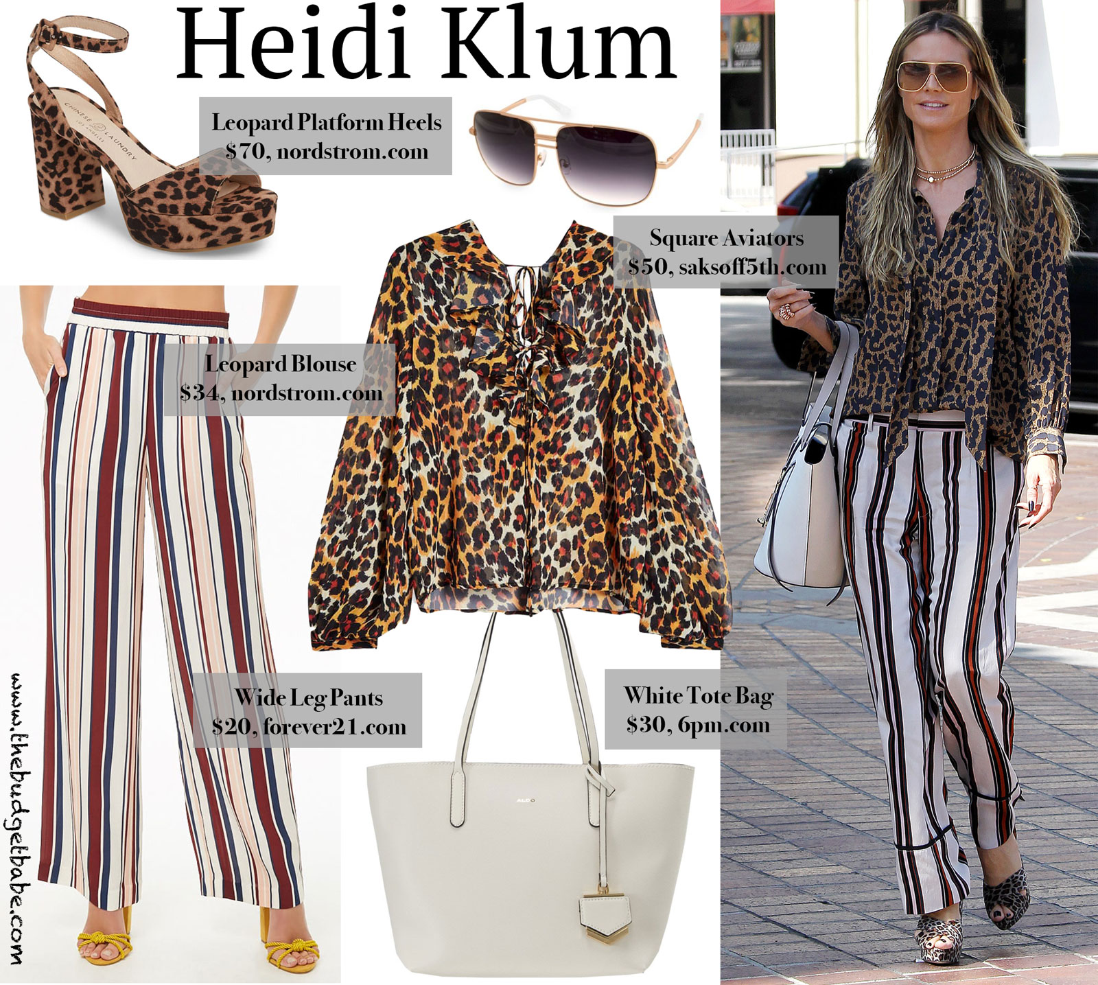 Heidi Klum Leopard Look for Less
