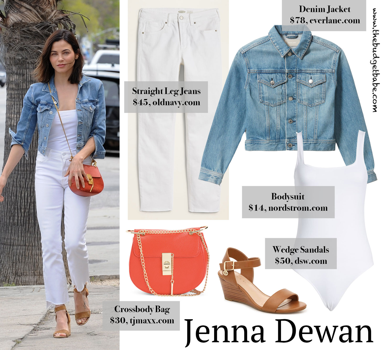 Jenna Dewan White Jeans Denim Jacket Look for Less