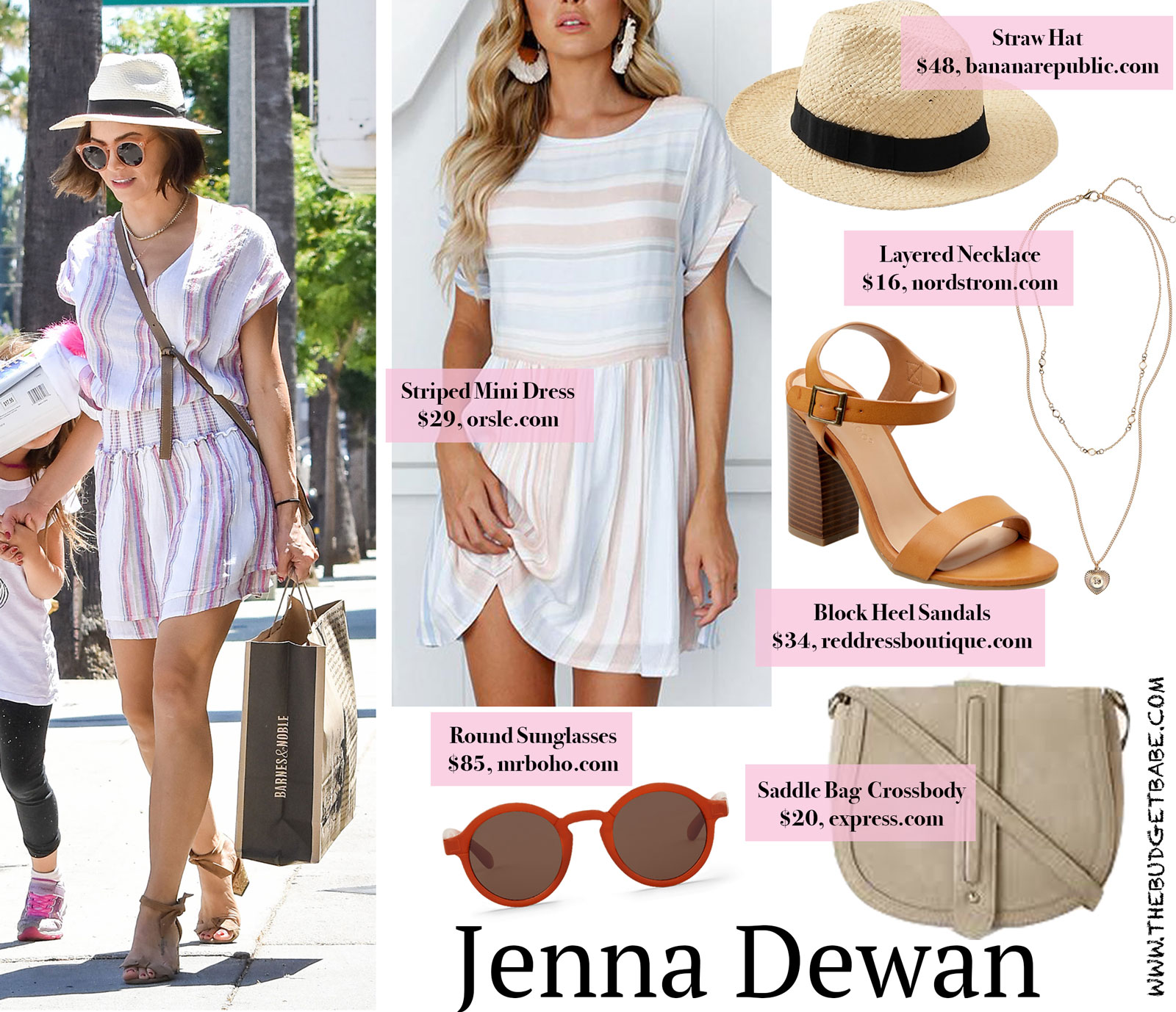 Jenna Dewan Striped Mini Dress Look for Less