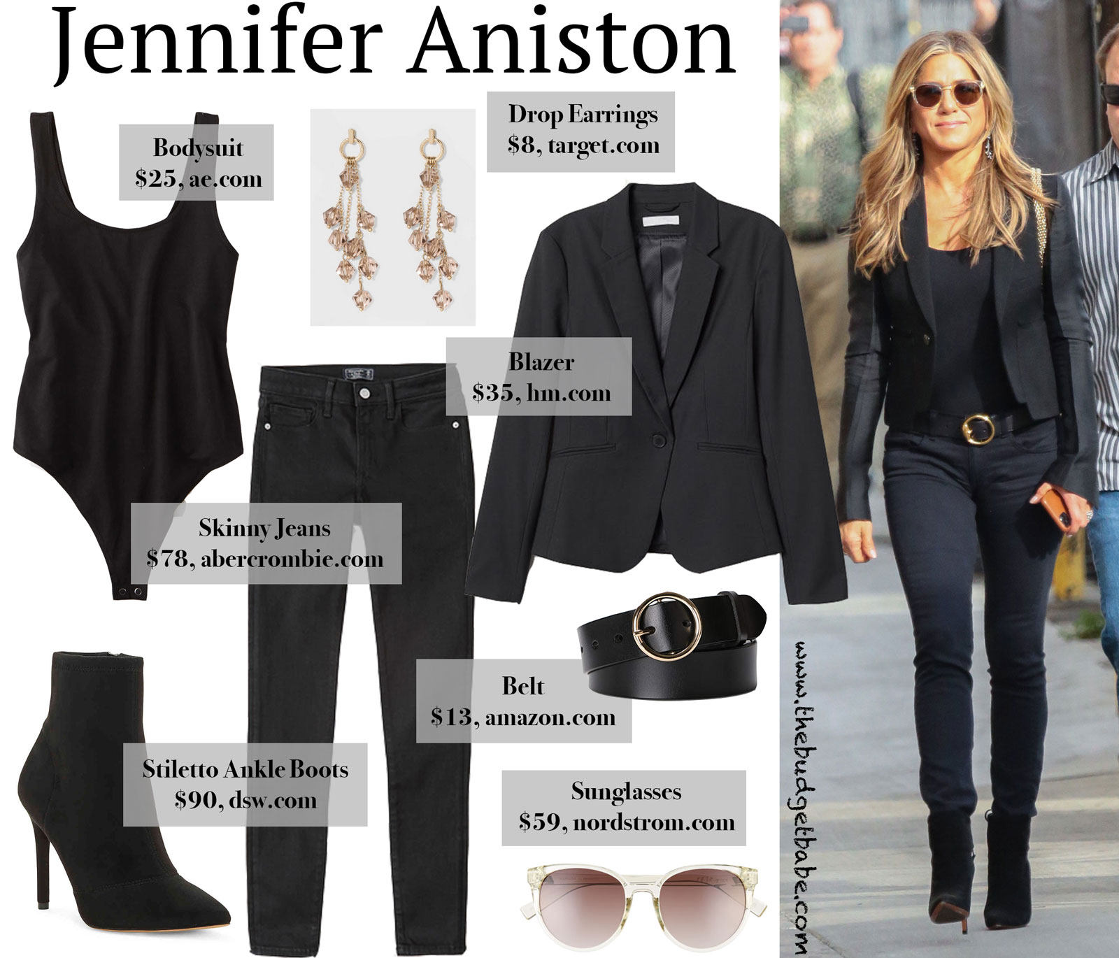 Jennifer Aniston All Black Look for Less