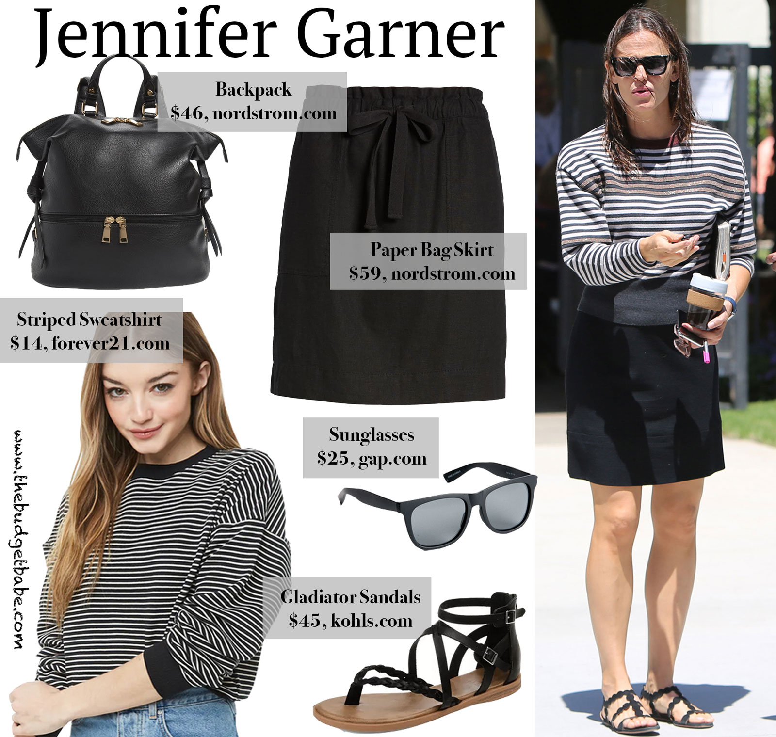 Jennifer Garner Stripe Sweater Look for Less