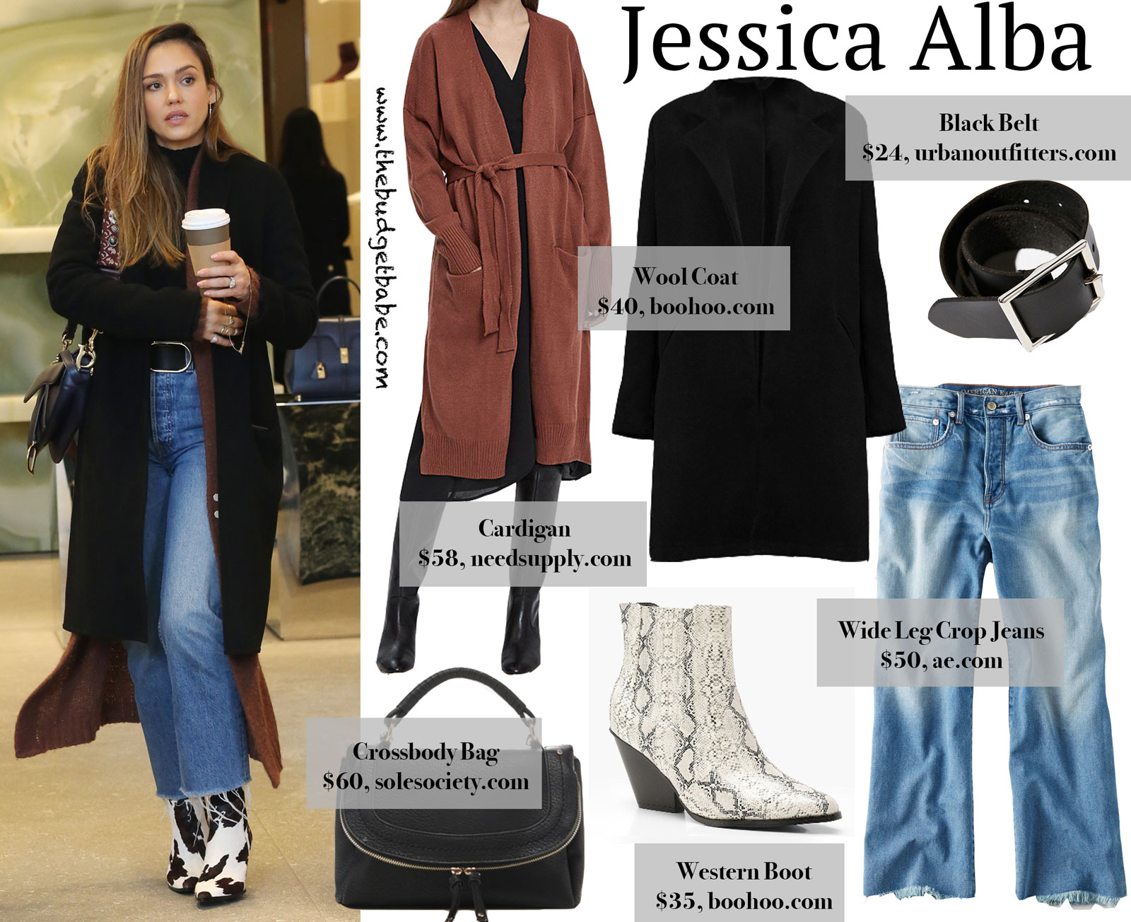Jessica Alba's MANGO Western Boots Look for Less