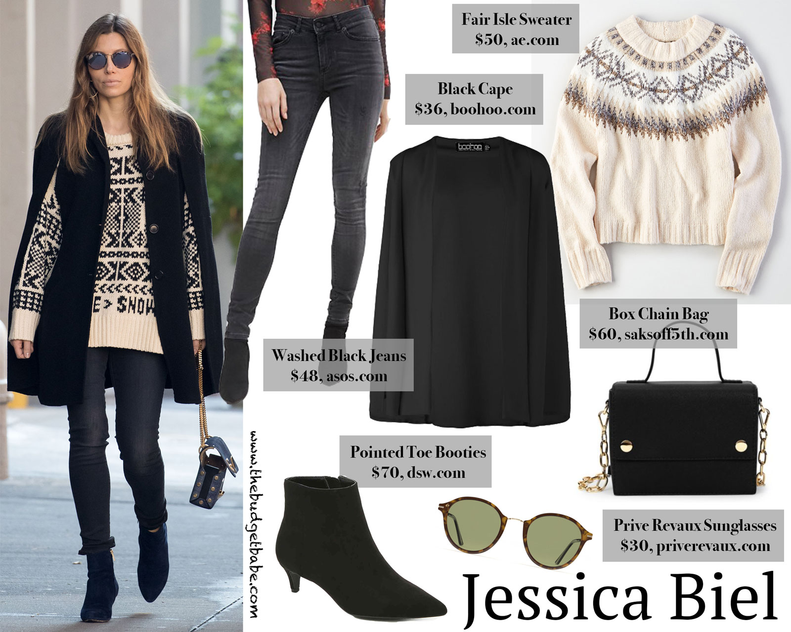 Jessica Biel Cape Look for Less