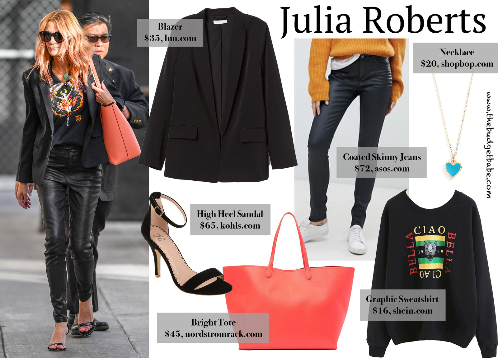 Julia Roberts Graphic Givenchy Sweatshirt Look for Less