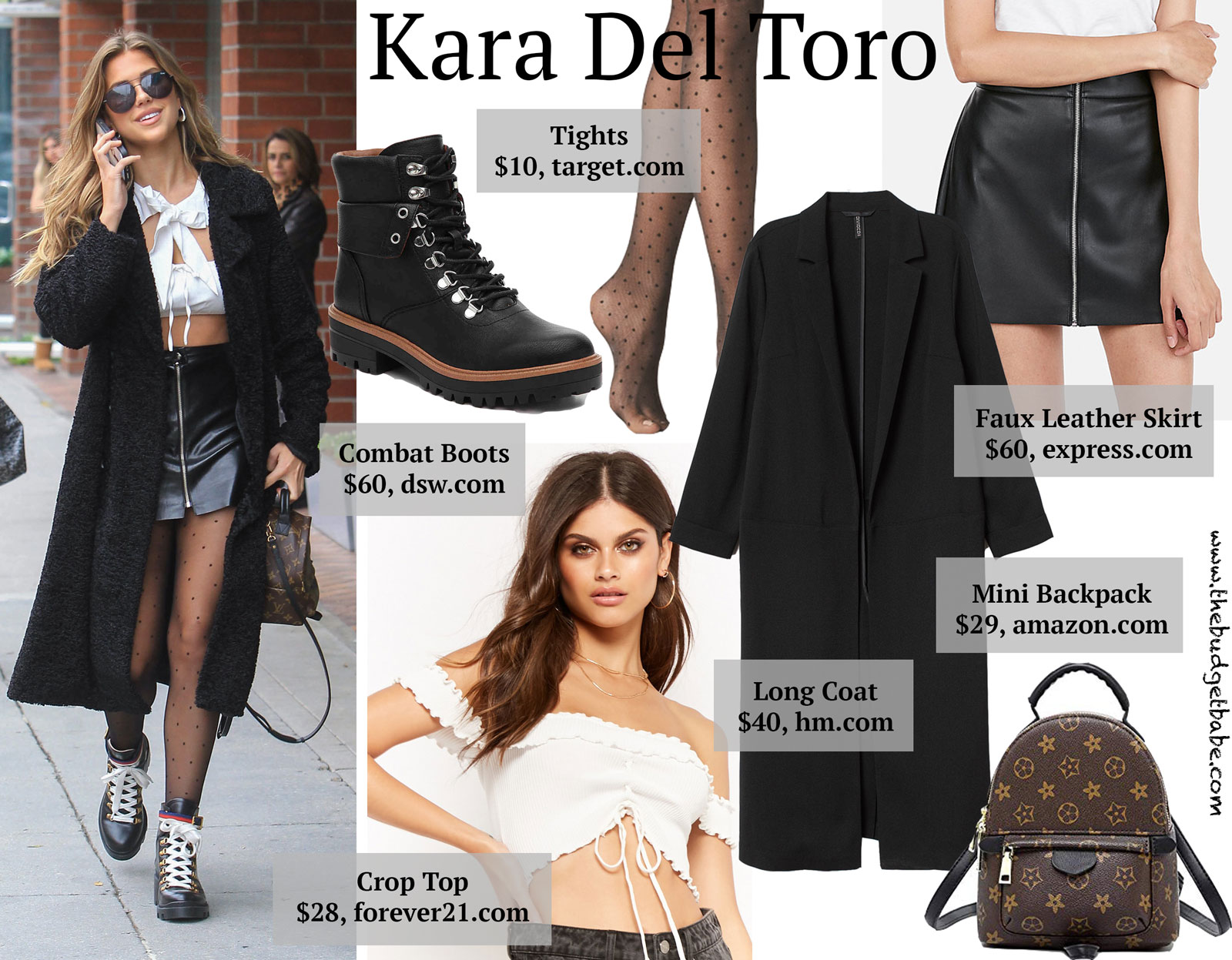 Kara Del Toro Gucci Boots and White Crop Top Look for Less
