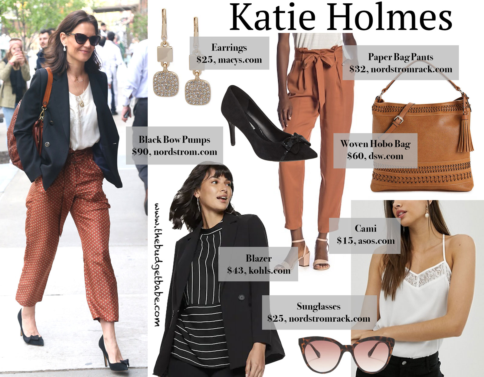 Katie Holmes Rust Pants Look for Less