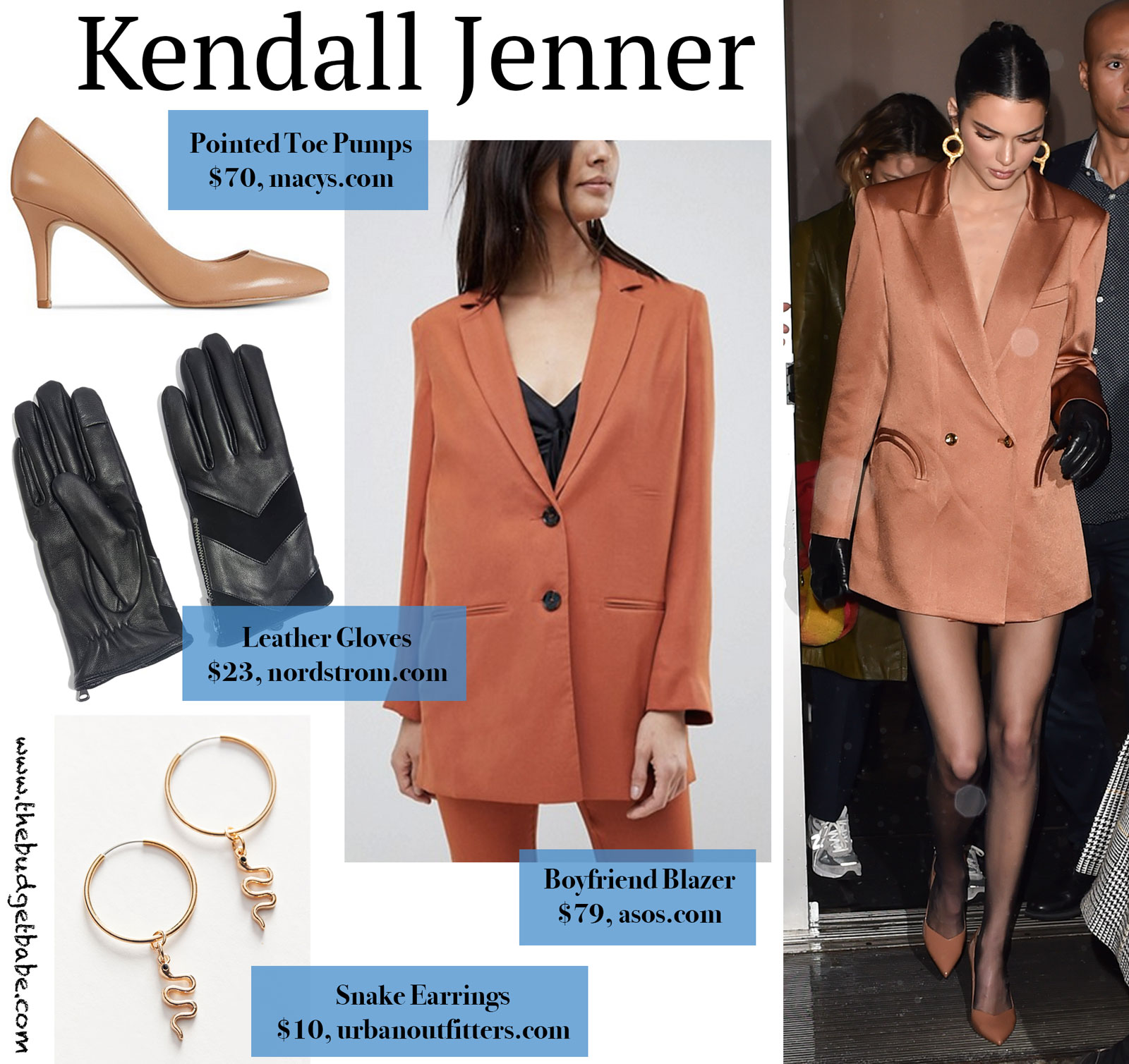 Kendall Jenner Blazer and Pumps Look for Less