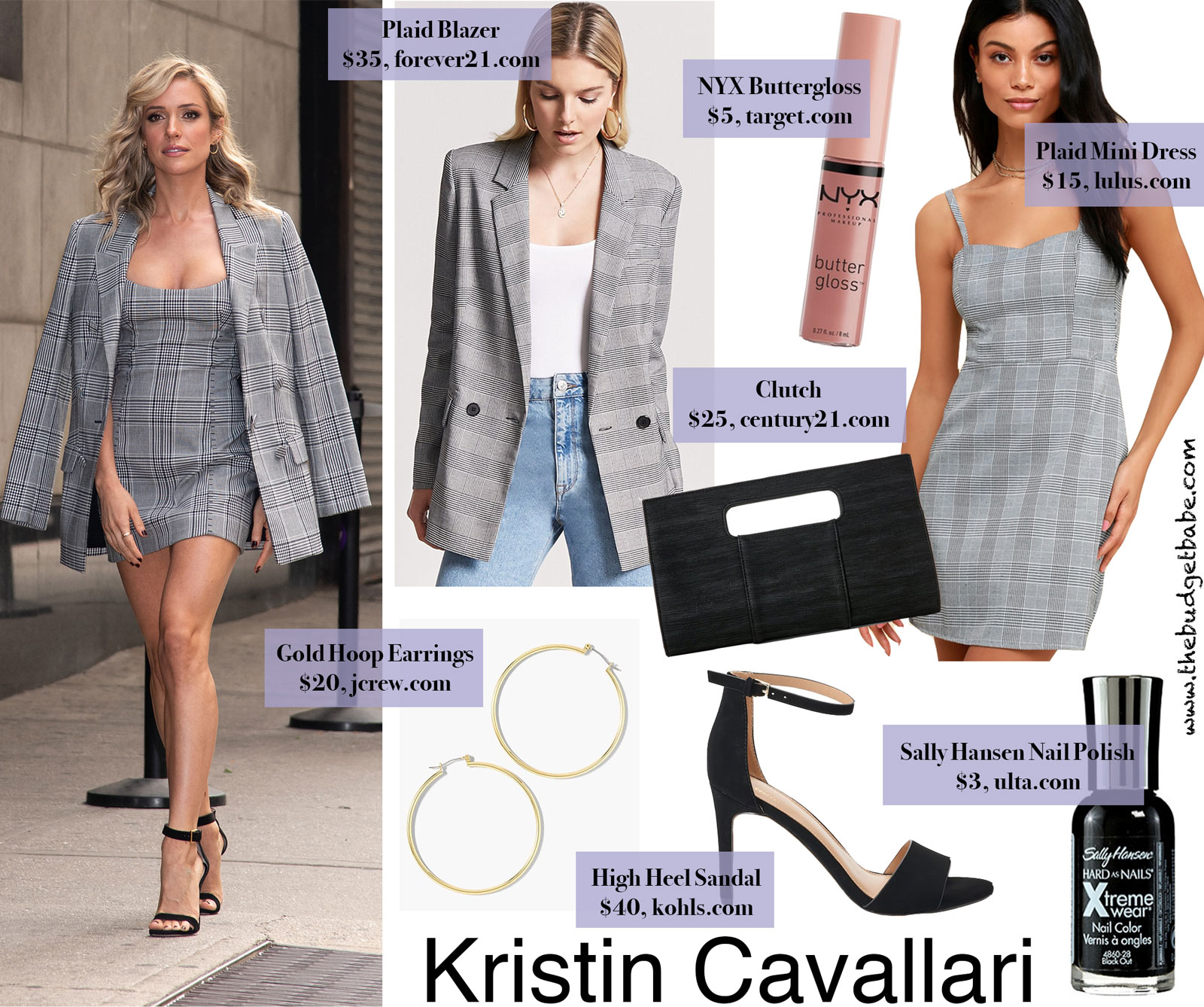 Kristin Cavallari Plaid Mini Dress Look for Less