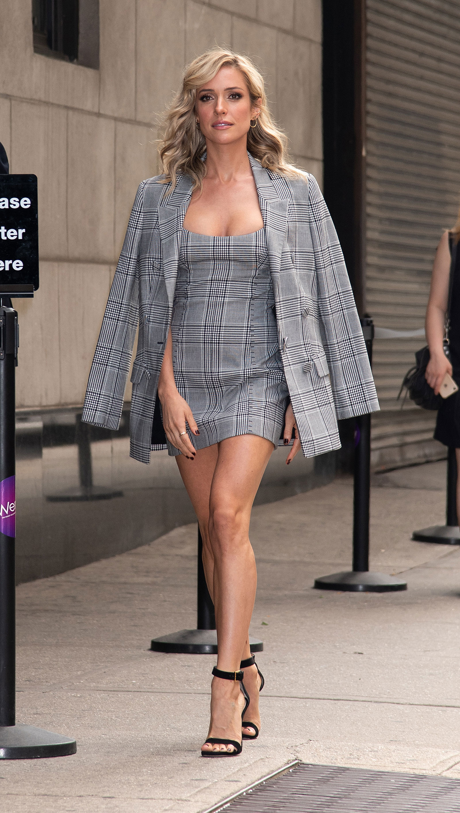 Kristin Cavallari Plaid Mini Dress and Blazer