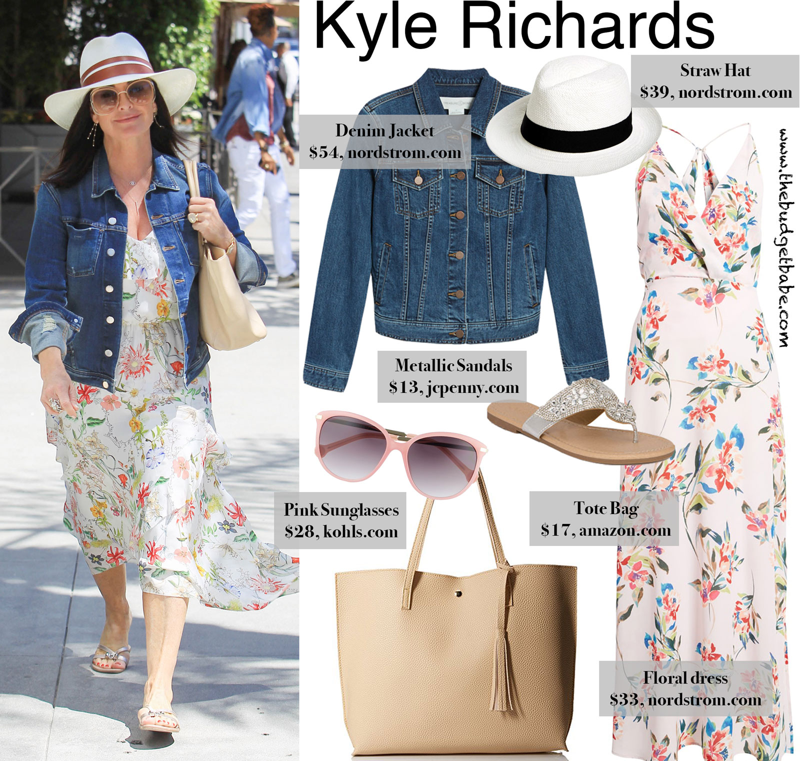 Kyle Richards' Floral Dress Look for Less