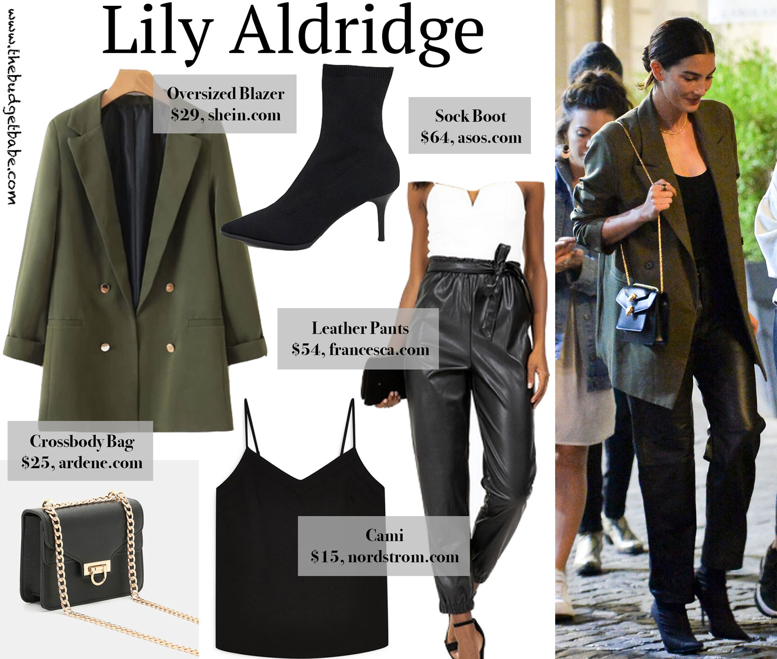 Lily Aldridge Oversized Blazer Look for Less