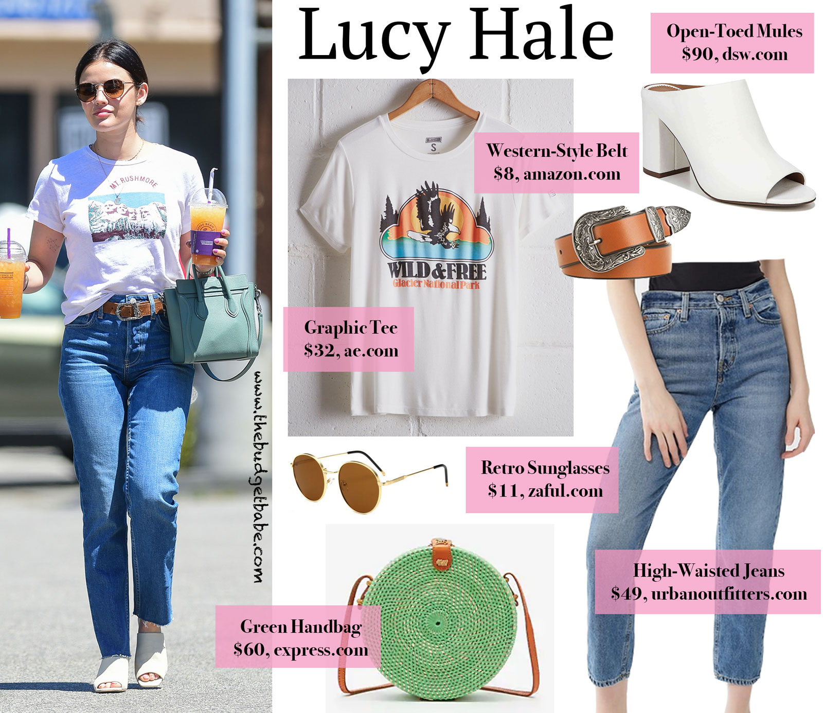 Lucy Hale Mt. Rushmore Graphic Tee Look for Less