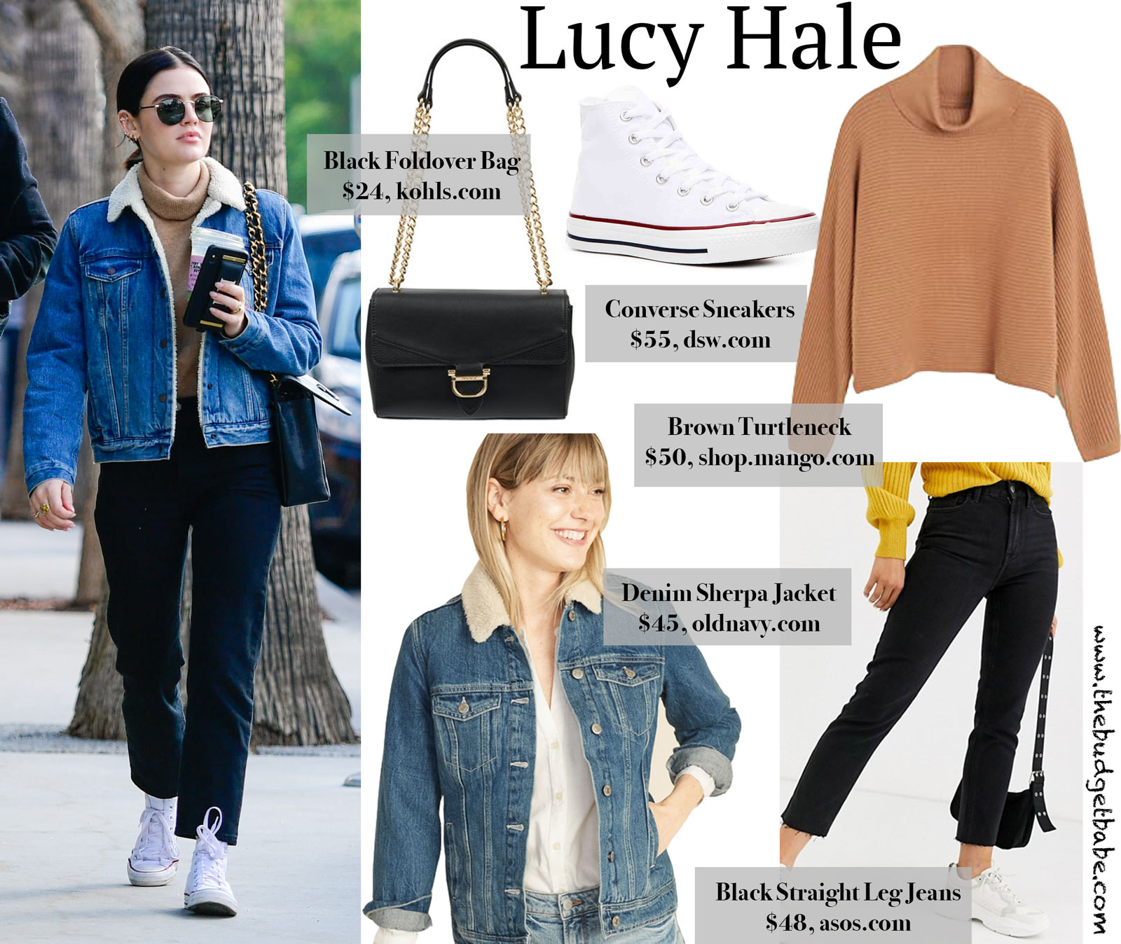 Lucy Hale Levi Sherpa Jacket Look for Less