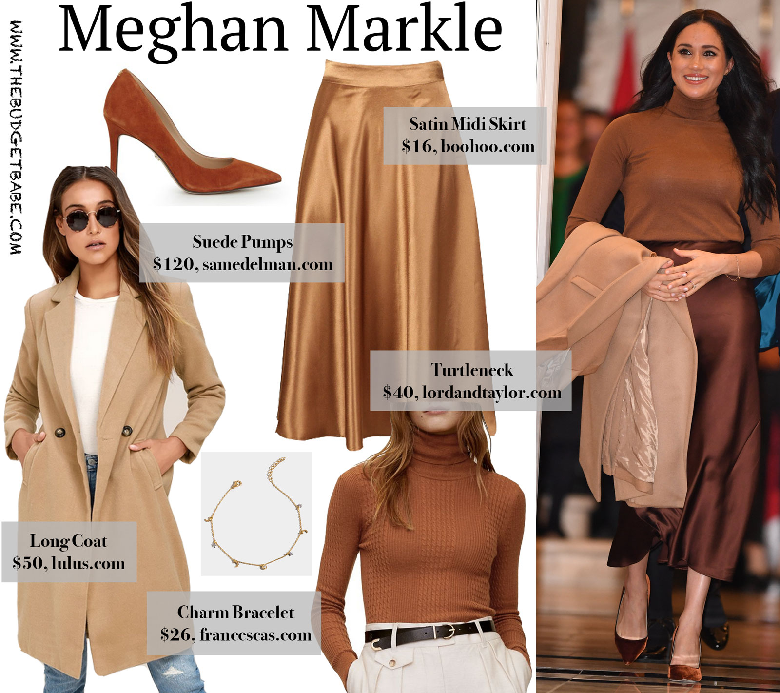 Meghan Markle Satin Skirt and Jimmy Choos Look for Less