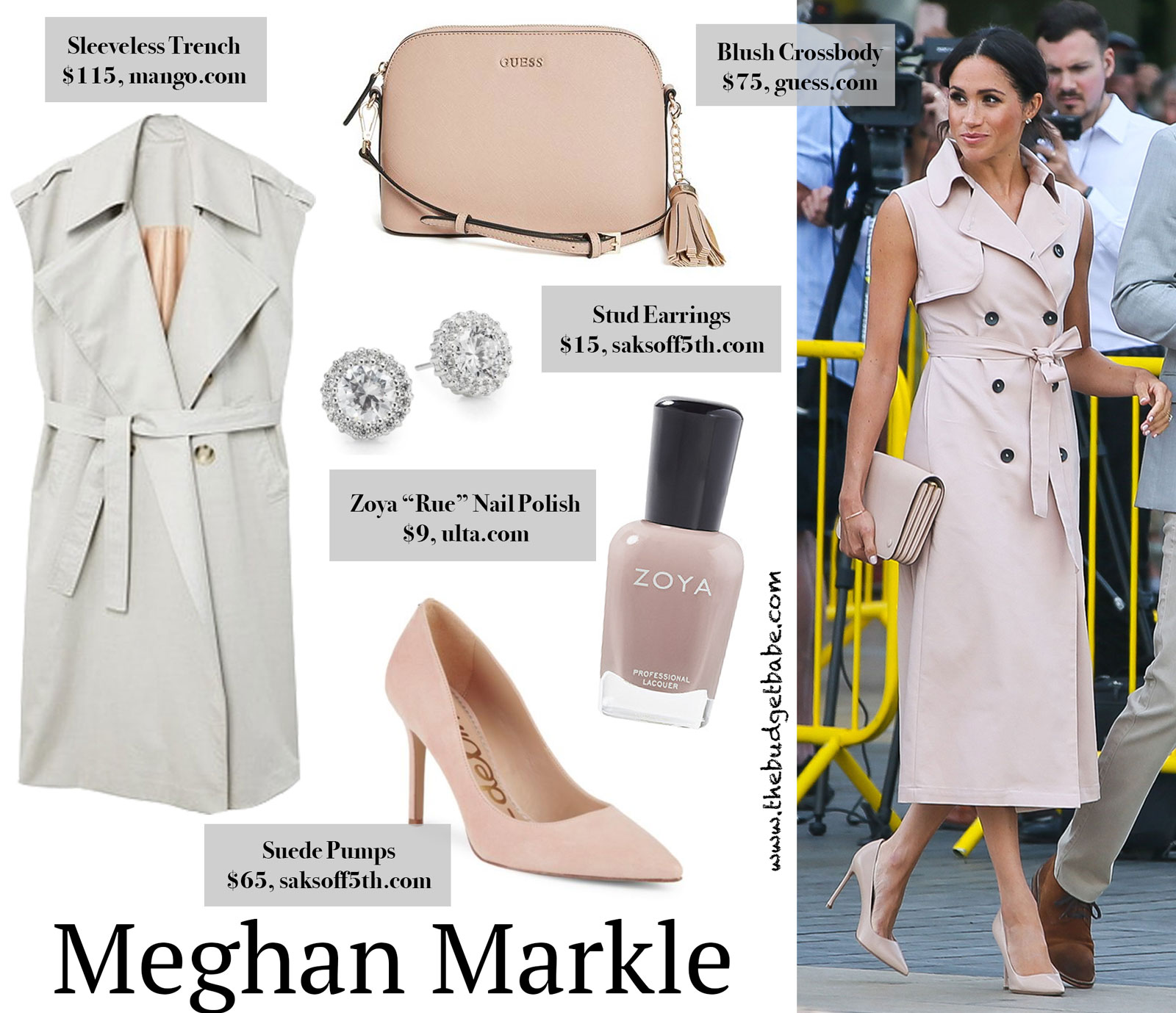 Meghan Markle's Sleeveless Trench Dress Look for Less