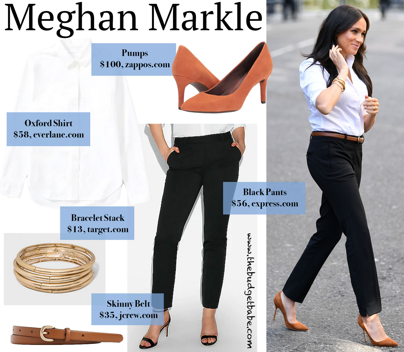 Meghan Markle in The Smart Set and Manolos Look for Less