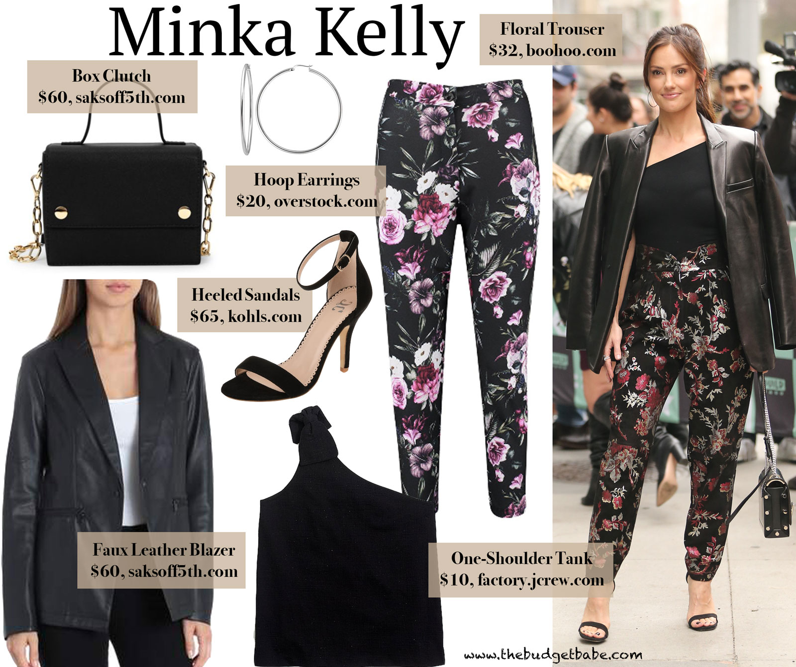 Minka Kelly Floral Pants Leather Blazer Look for Less