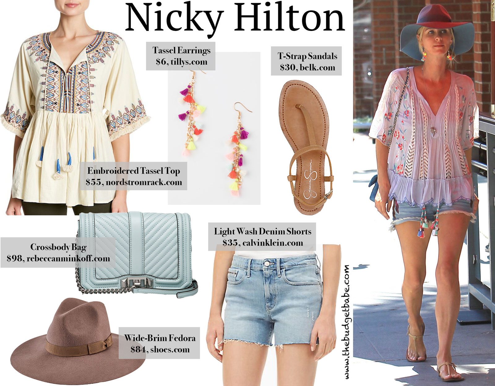 Nicky Hilton Embroidered Tassel Top Look for Less
