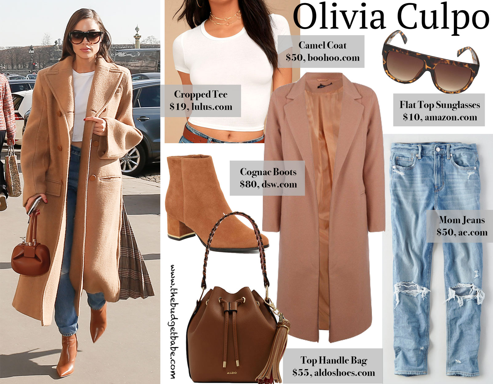 Olivia Culpo Camel Coat Look for Less