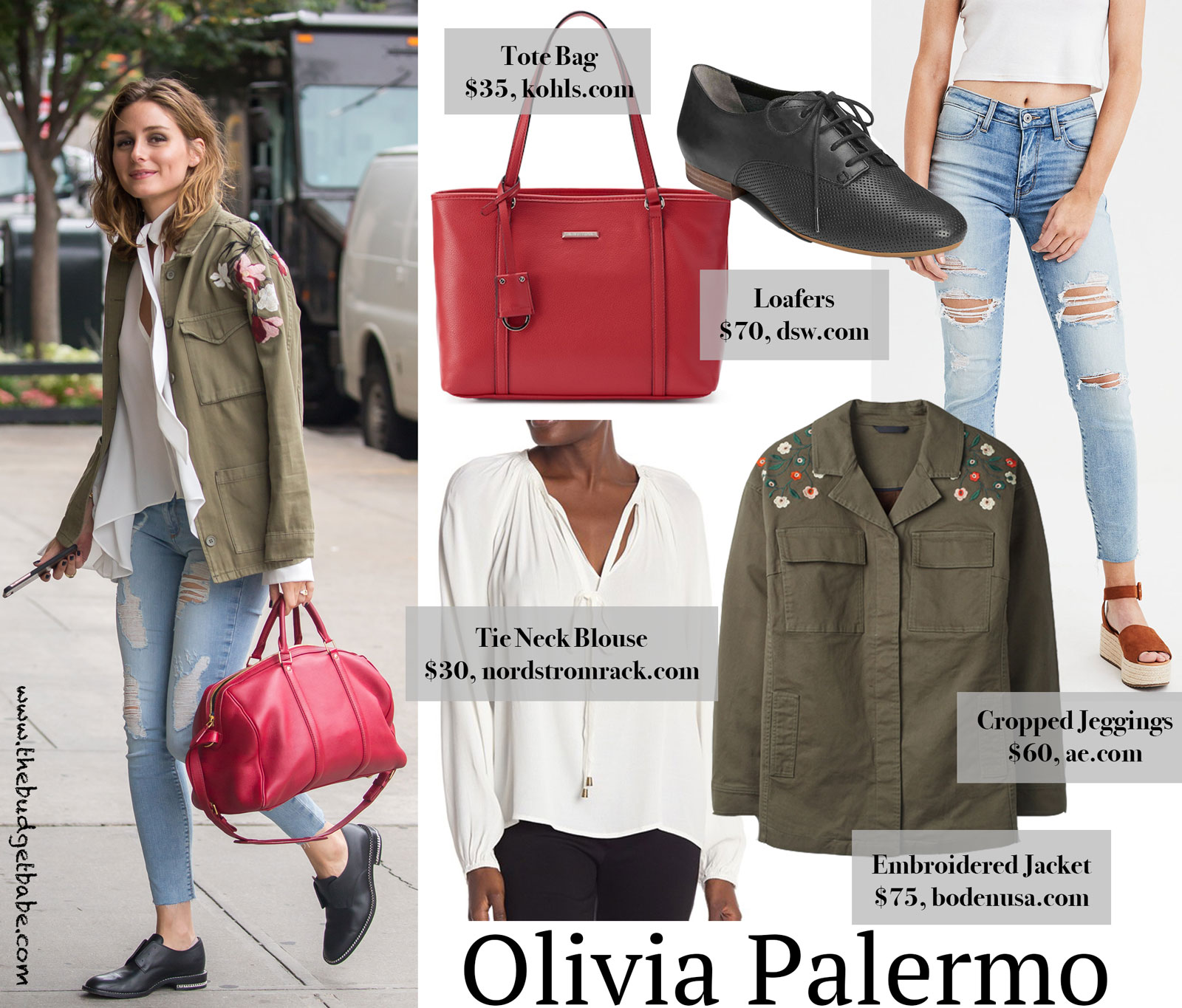 Olivia Palermo Embroidered Jacket Look for Less