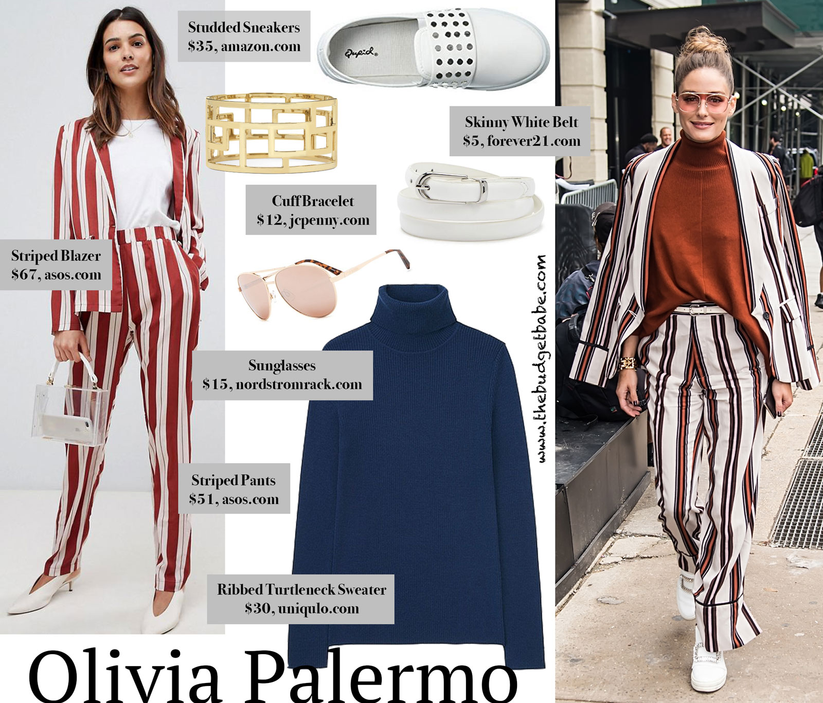 Olivia Palermo Striped Suit Look for Less