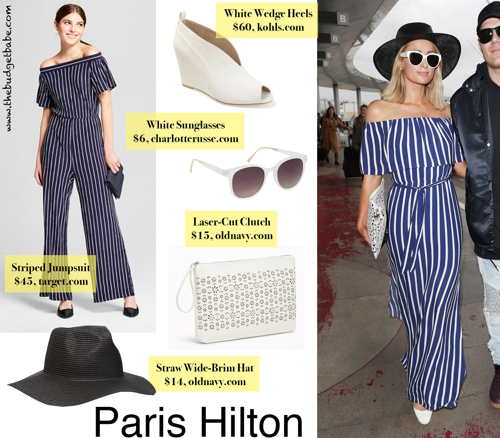 649f6f73ad5 Paris Hilton Striped Jumpsuit Look for Less