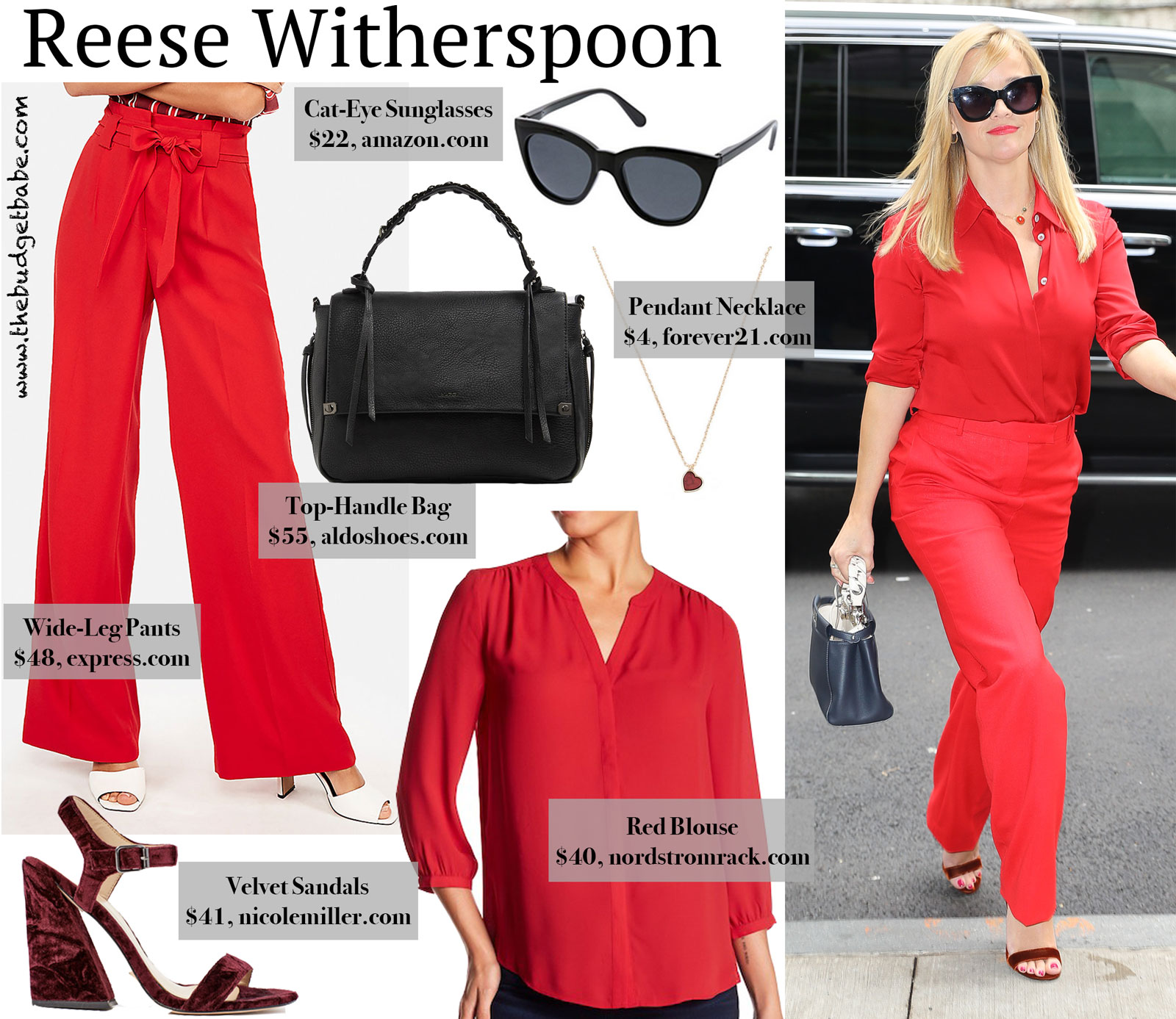 Reese in Red Look for Less