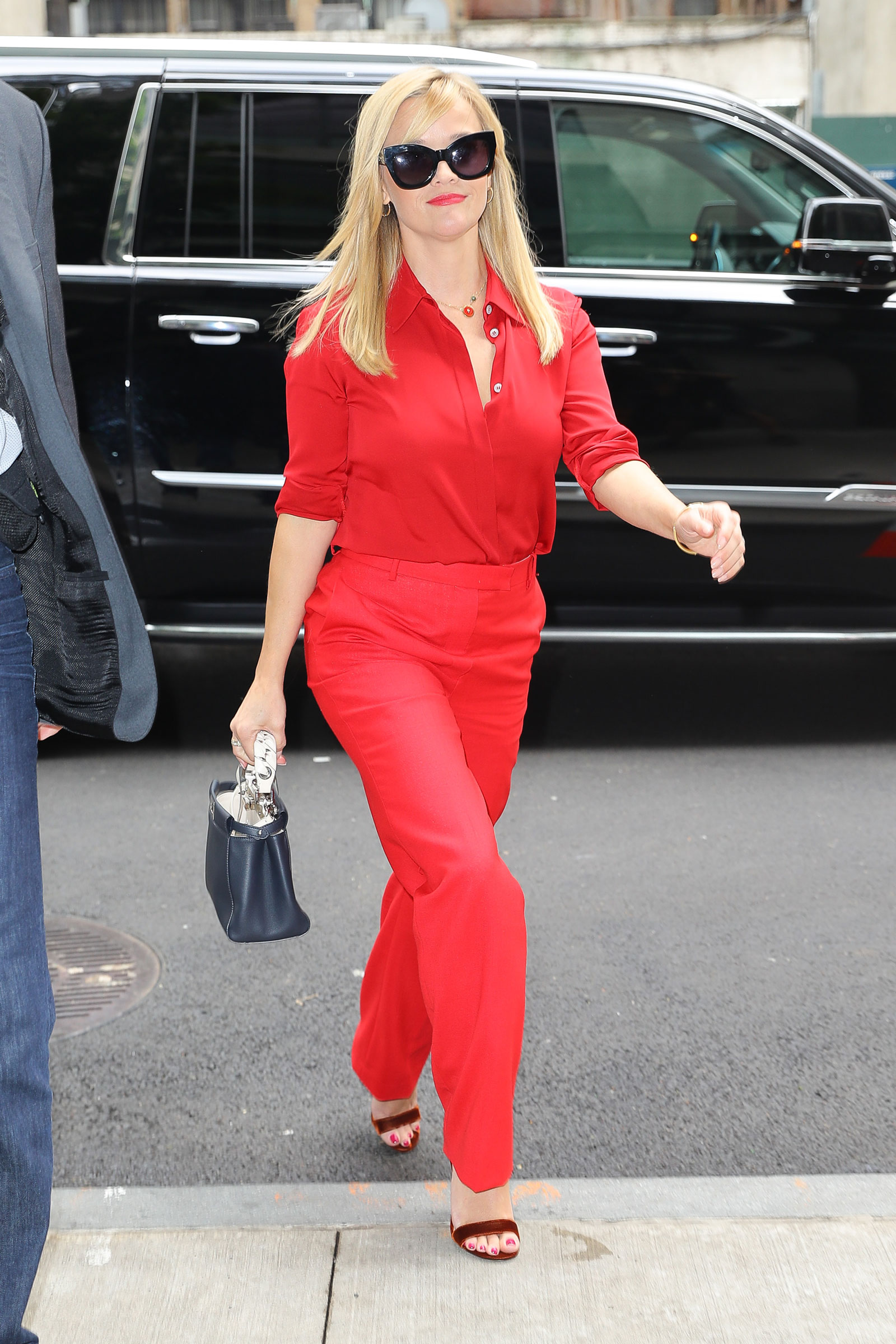 "Reese Witherspoon Red ""The Row"" Outfit"