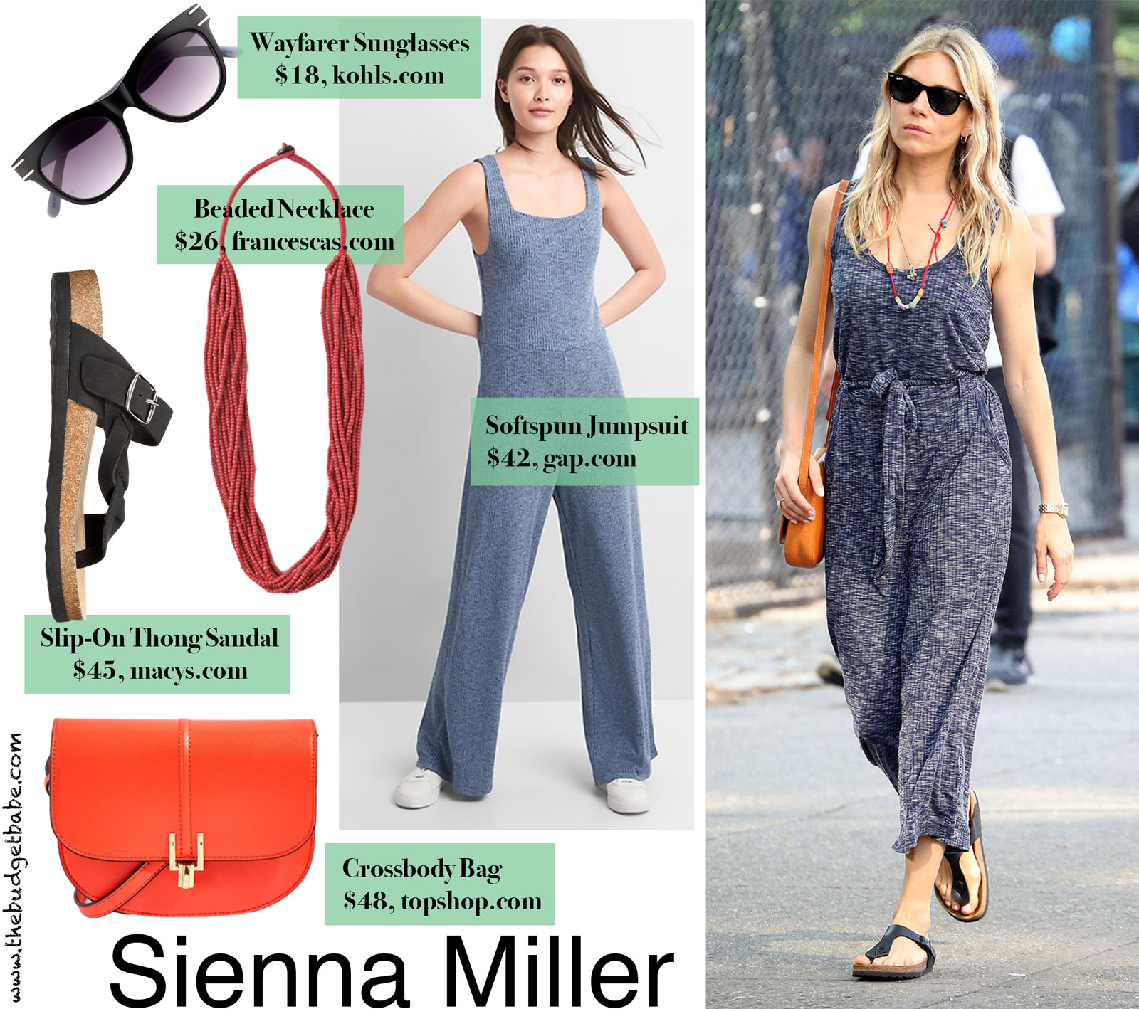 Sienna Miller's Jumpsuit and Birkenstocks Look for Less