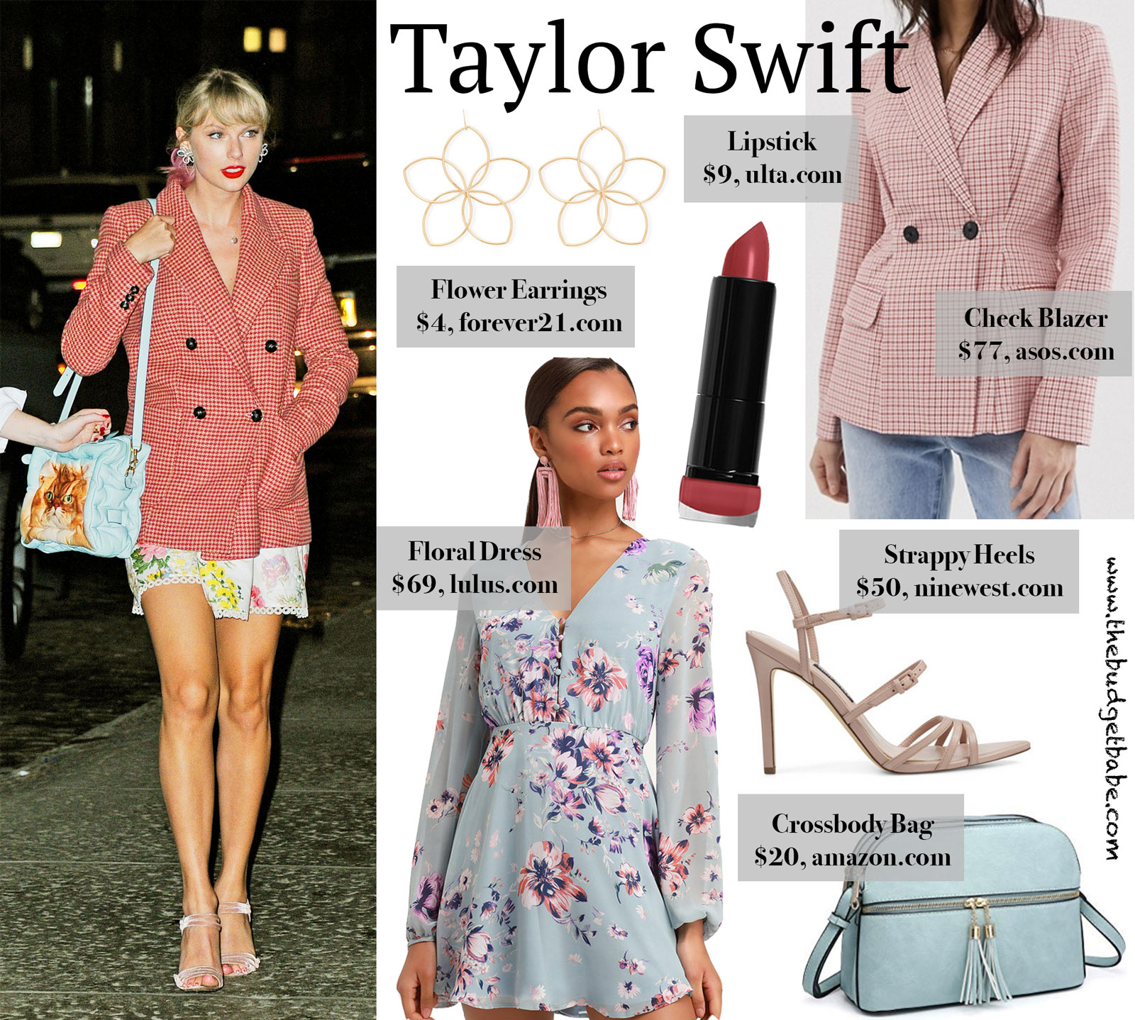 Taylor Swift Red Blazer Floral Dress Look for Less